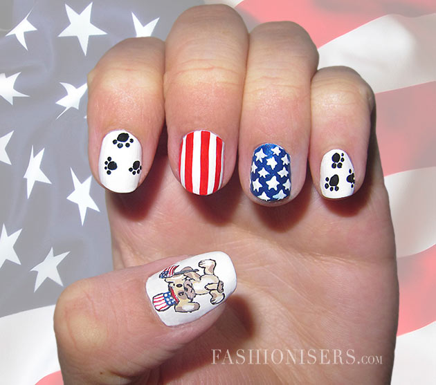 Fourth of July Nail Art Designs
