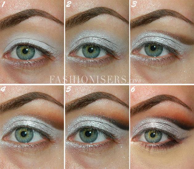 Metallic Silver Bridal Makeup Tutorial. Step ...