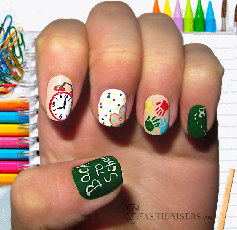 12 Cute Back To School Nail Art Designs | Fashionisers©