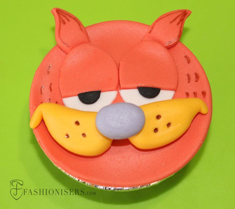 Garfield Gumpaste Cupcake Decorating Tutorial