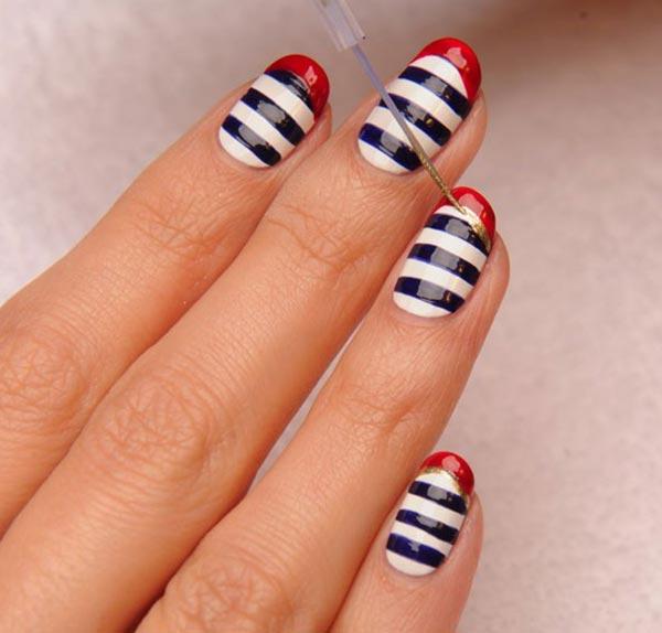 101 Classy Nail Art Designs for Short Nails | Fashionisers©