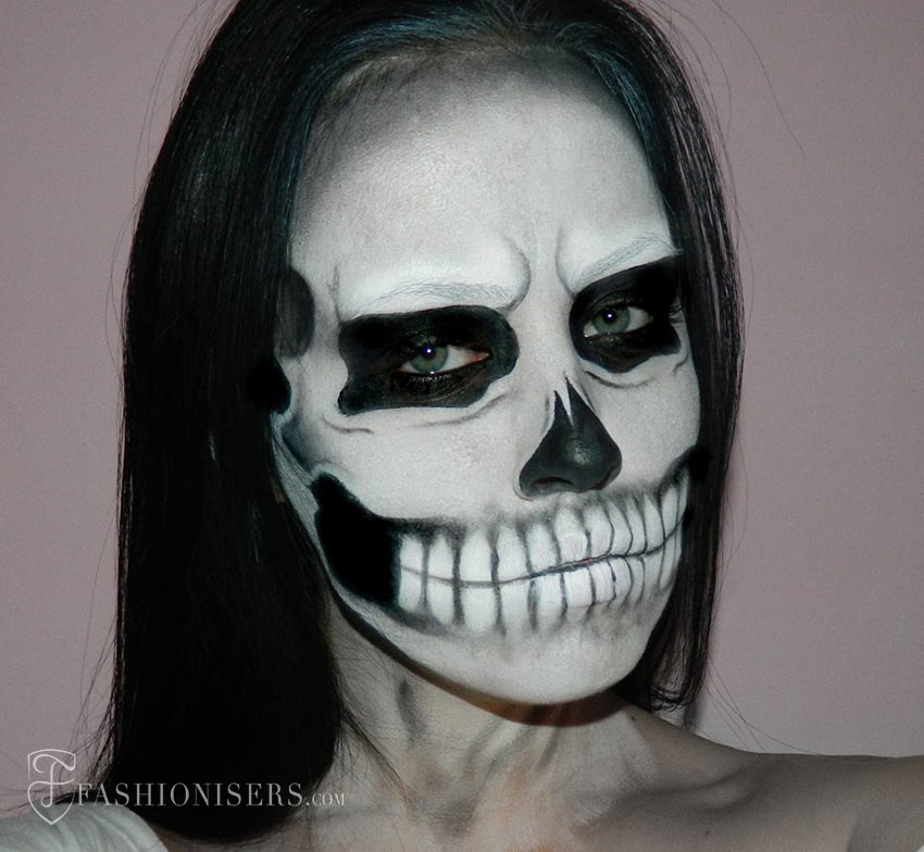 Lady Gaga Inspired Halloween Skull Makeup Tutorial