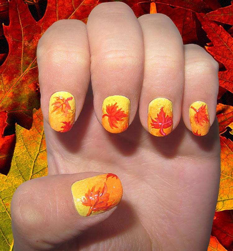 Nail Designs Fall Leaves