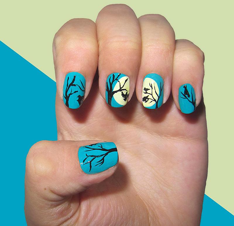 Fall Tree Nail Art Designs