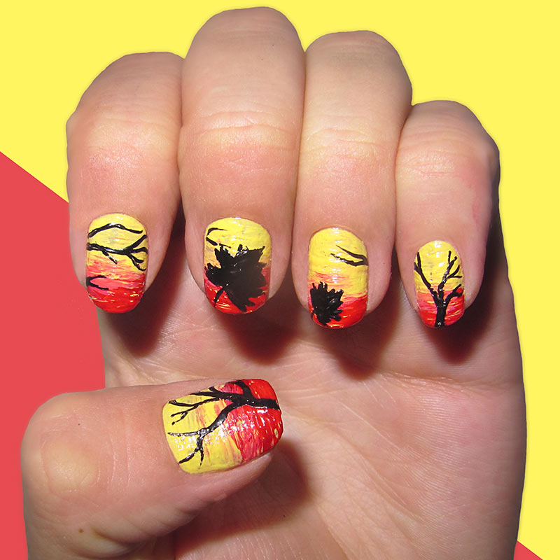 fall nail art 13 dreamy fall nail designs that are more than 12801