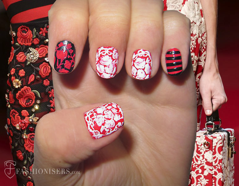 Nail Art Designs Inspired From Spring 2015 Runway: Dolce & Gabbana