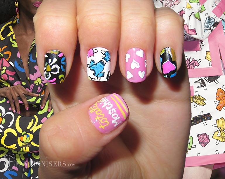 Nail Art Designs Inspired From Spring 2015 Runway: Moschino
