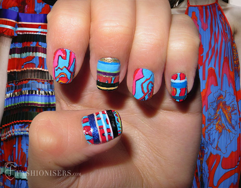 Nail Art Designs Inspired From Spring 2015 Runway: Roberto Cavalli