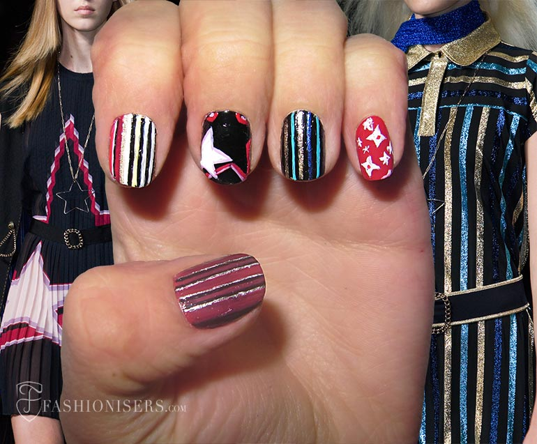 Nail Art Designs Inspired From Spring 2015 Runway: Tommy Hilfiger