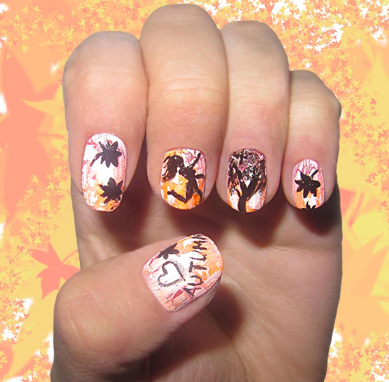 Romantic Fall Nail Art Ideas