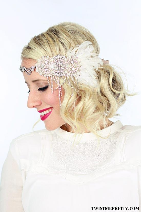 DIY Vintage Hairstyles: Great Gatsby Flapper Hairstyle Tutorial