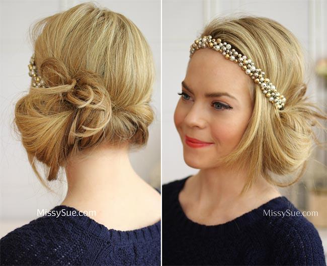 DIY Vintage Hairstyles: Headband Tuck Flapper Hairstyle Tutorial