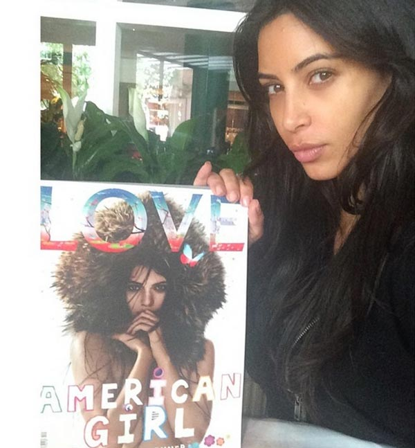 Celebrities Without Makeup: Kim Kardashian