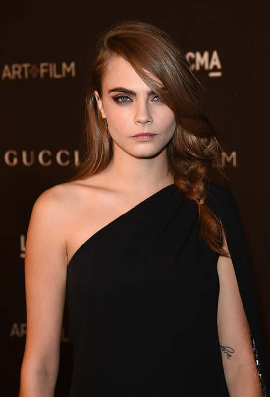 Glam Long Holiday Hairstyles: Cara Delevingne