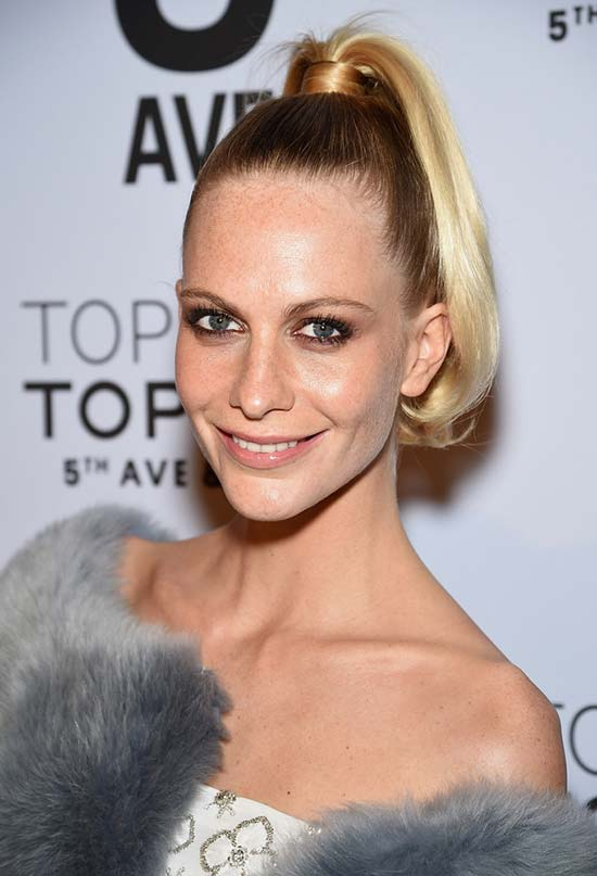 Glam Long Holiday Hairstyles: Poppy Delevingne