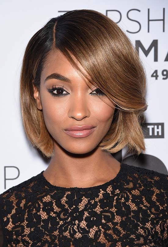 Glam Short Holiday Hairstyles: Jourdan Dunn