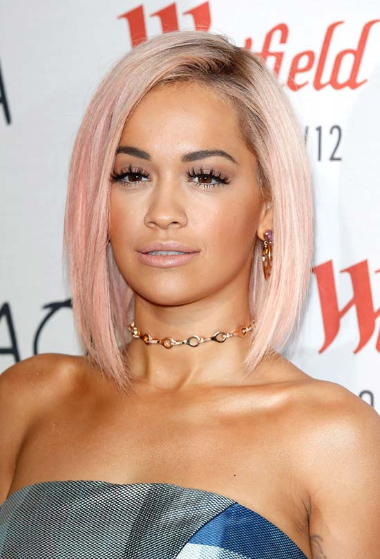 Glam Short Holiday Hairstyles: Rita Ora