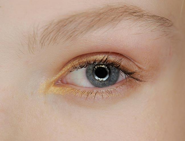 Holiday 204 Metallic Makeup Ideas: Alberta Ferretti