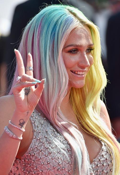 Pretty Pastel Hair Color Ideas: Kesha