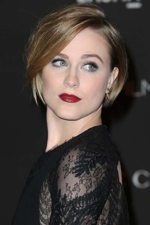 20 Short Hairstyles Celebs Love to Wear: Evan Rachel Wood