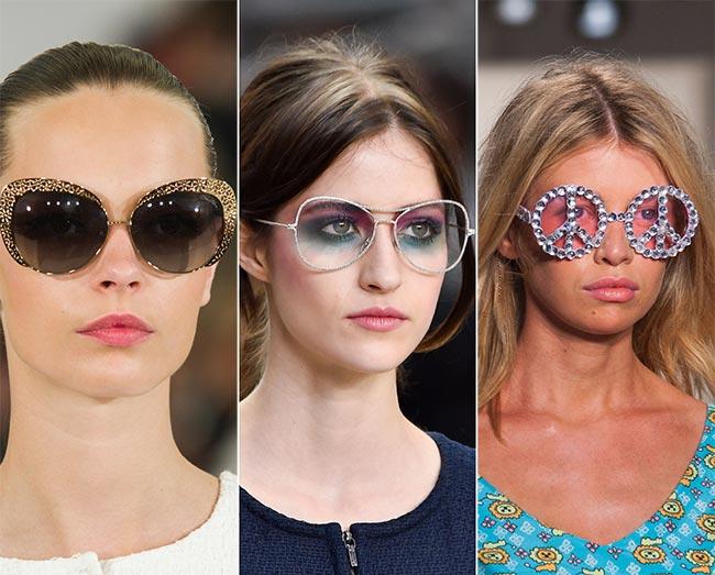 Spring/ Summer 2015 Eyewear Trends: Sunglasses with Glittery Frames