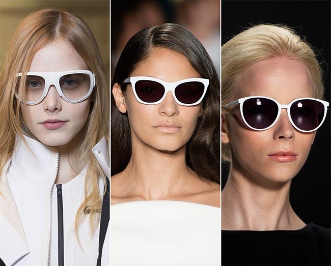 ca04fe263254 Spring/ Summer 2015 Eyewear Trends: White-Framed Sunglasses