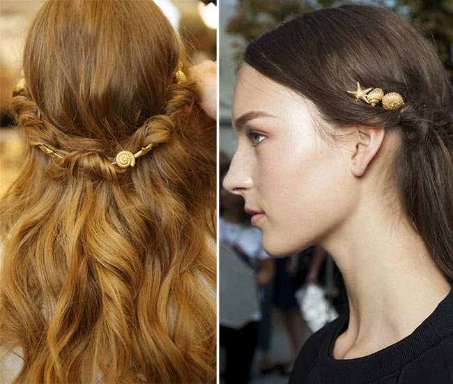 Spring/ Summer 2015 Hair Accessory Trends: Golden Hair Accessories