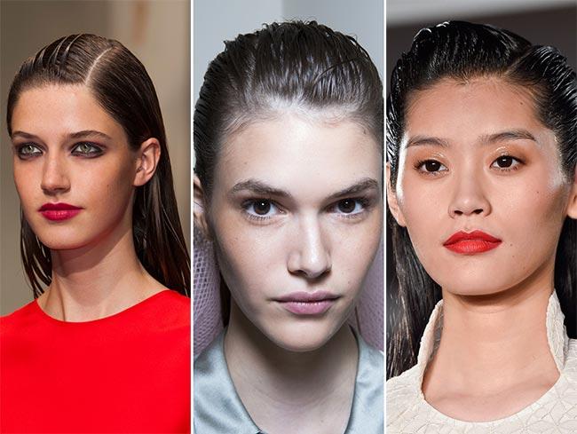 Spring/ Summer 2015 Hairstyle Trends: Wet-Look Hair