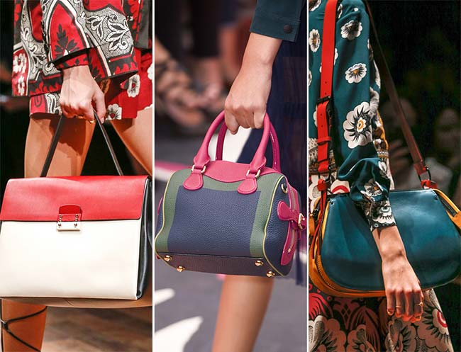 Spring/ Summer 2015 Handbag Trends: Color-Blocked Bags