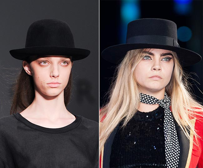 1902b29dc49 Spring  Summer 2015 Headwear Trends  Masculine Boater and Bowler Hats
