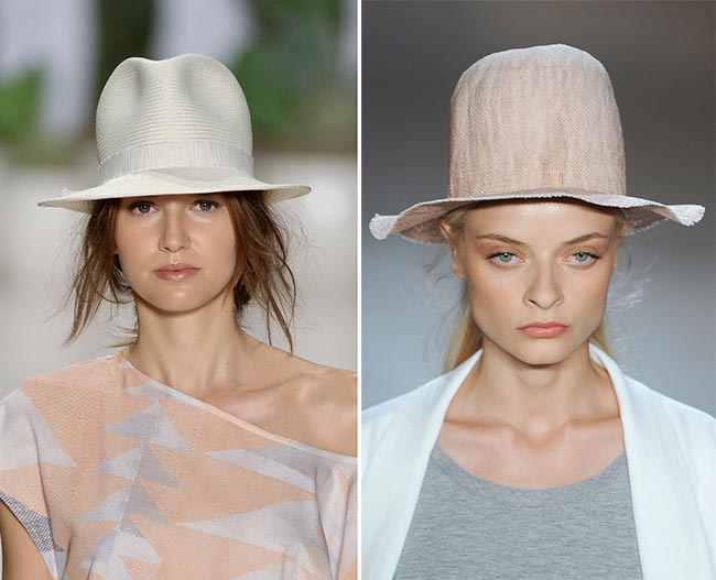 Spring/ Summer 2015 Headwear Trends: Masculine Fedora Hats and Tophats