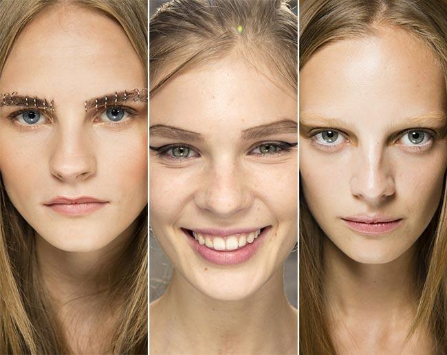 Spring/ Summer 2015 Makeup Trends: Expressive Eyebrows