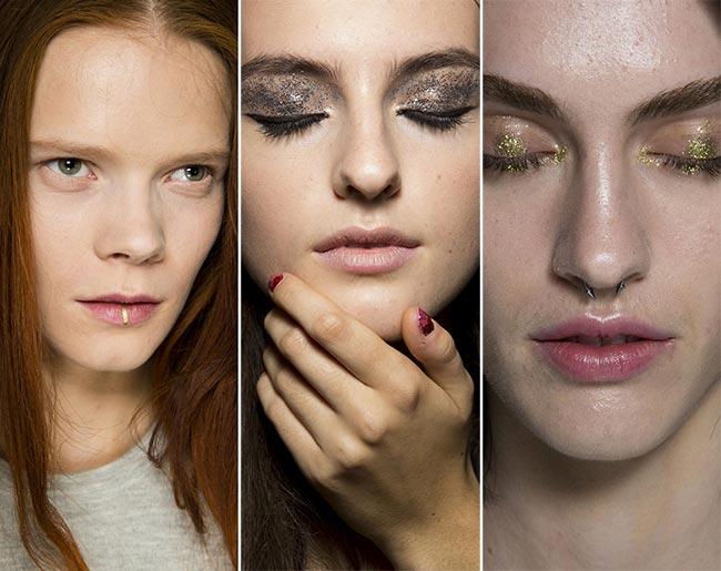 Spring/ Summer 2015 Makeup Trends: Metallic and Glittery Makeup