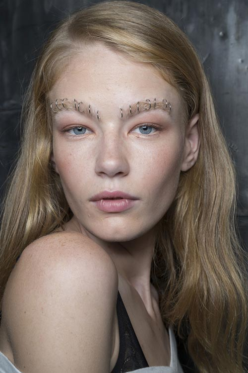 Spring/ Summer 2015 Runway Beauty Trends: Pearced Brows
