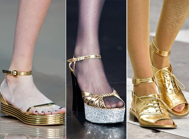 Spring/ Summer 2015 Shoe Trends: Shimmery Shoes