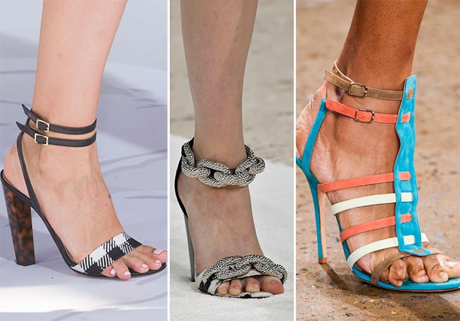 Spring/ Summer 2015 Shoe Trends: Shoes with Ankle Straps, Buckles and Other Details