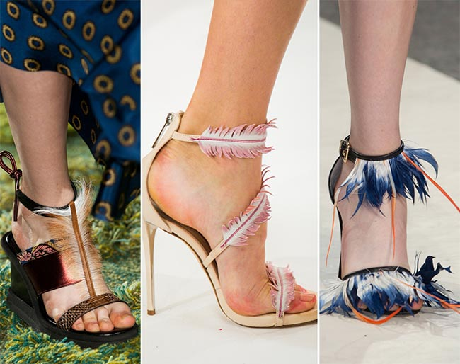 Spring/ Summer 2015 Shoe Trends: Feathery Shoes