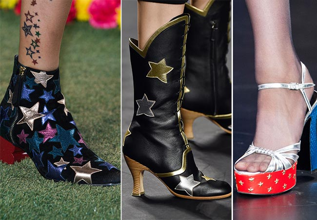 Spring/ Summer 2015 Shoe Trends: Star-Printed Shoes