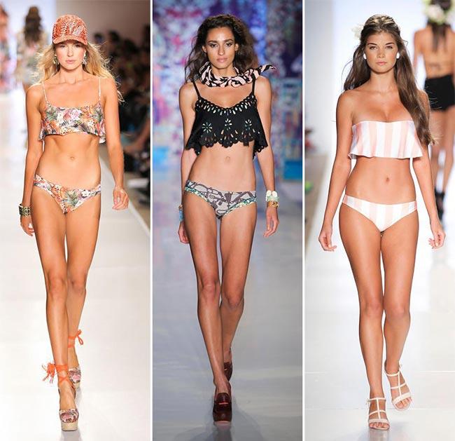Spring/ Summer 2015 Swimwear Trends: Fluttering Flounce Bikini Tops