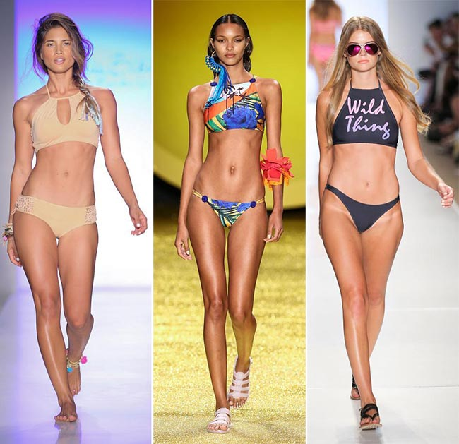 Spring/ Summer 2015 Swimwear Trends: High Neck Crop Top Bikinis