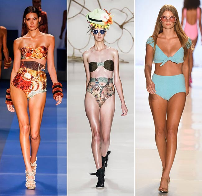 Spring/ Summer 2015 Swimwear Trends: High-Waisted Retro Swimwear