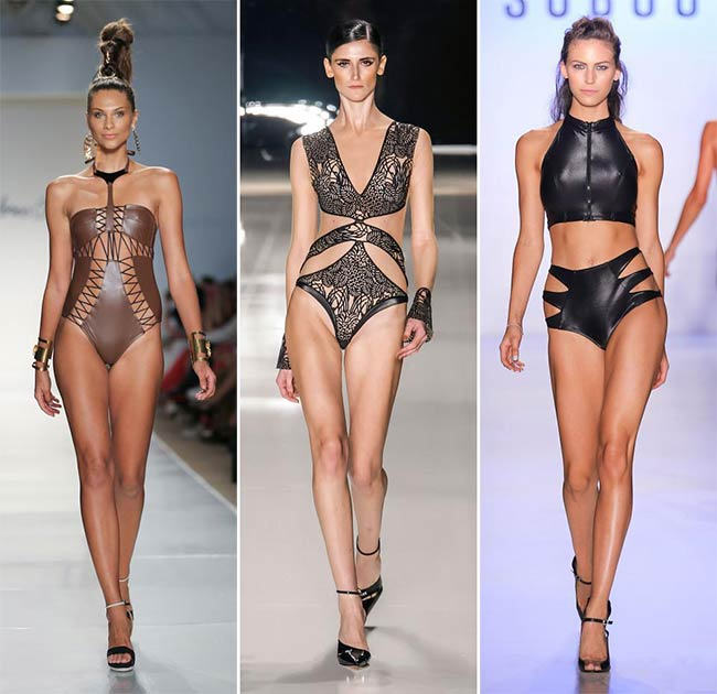 Spring/ Summer 2015 Swimwear Trends: Leather Swimwear