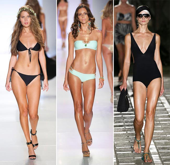 Spring/ Summer 2015 Swimwear Trends: Monochrome Swimwear