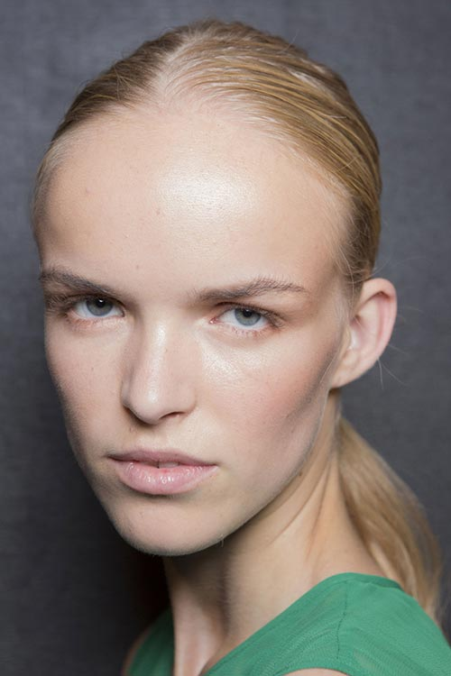 Spring/ Summer 2015 Trendy Ponytail Hairstyles: Prabal Gurung Sporty Chic Ponytails