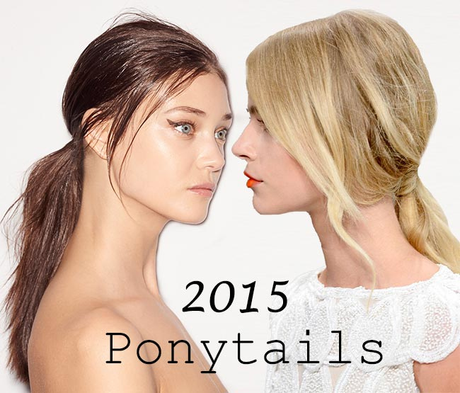 Spring/ Summer 2015 Trendy Ponytail Hairstyles