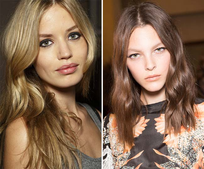 Spring/ Summer 2015 Wavy Hairstyles Taken from The Runway: Festive Waves