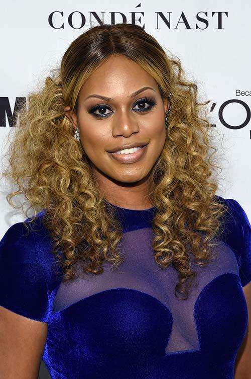 20 Stylish Ways to Wear Center Part Hairstyles: Laverne Cox