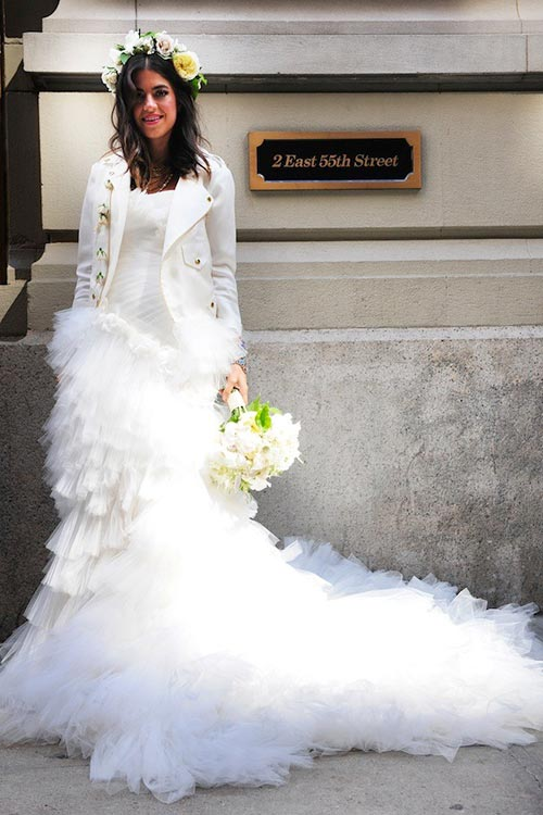 10 of the Most Unique Celebrity Wedding Dresses: Leandra Medine
