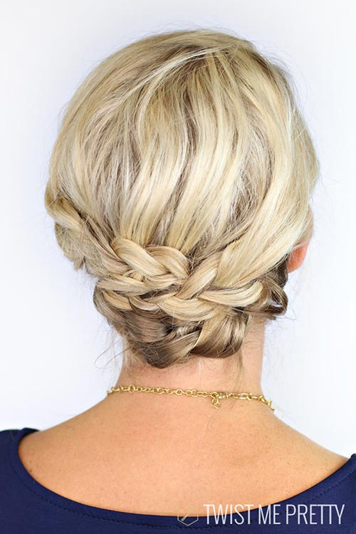 Updo Hairstyles for Short Hair: Braids