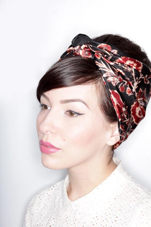 Updo Hairstyles for Short Hair: Hair Scarf